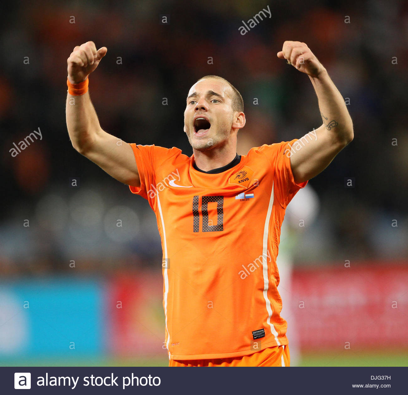 Netherland s Wesley Sneijder celebrates at the final whistle FIFA