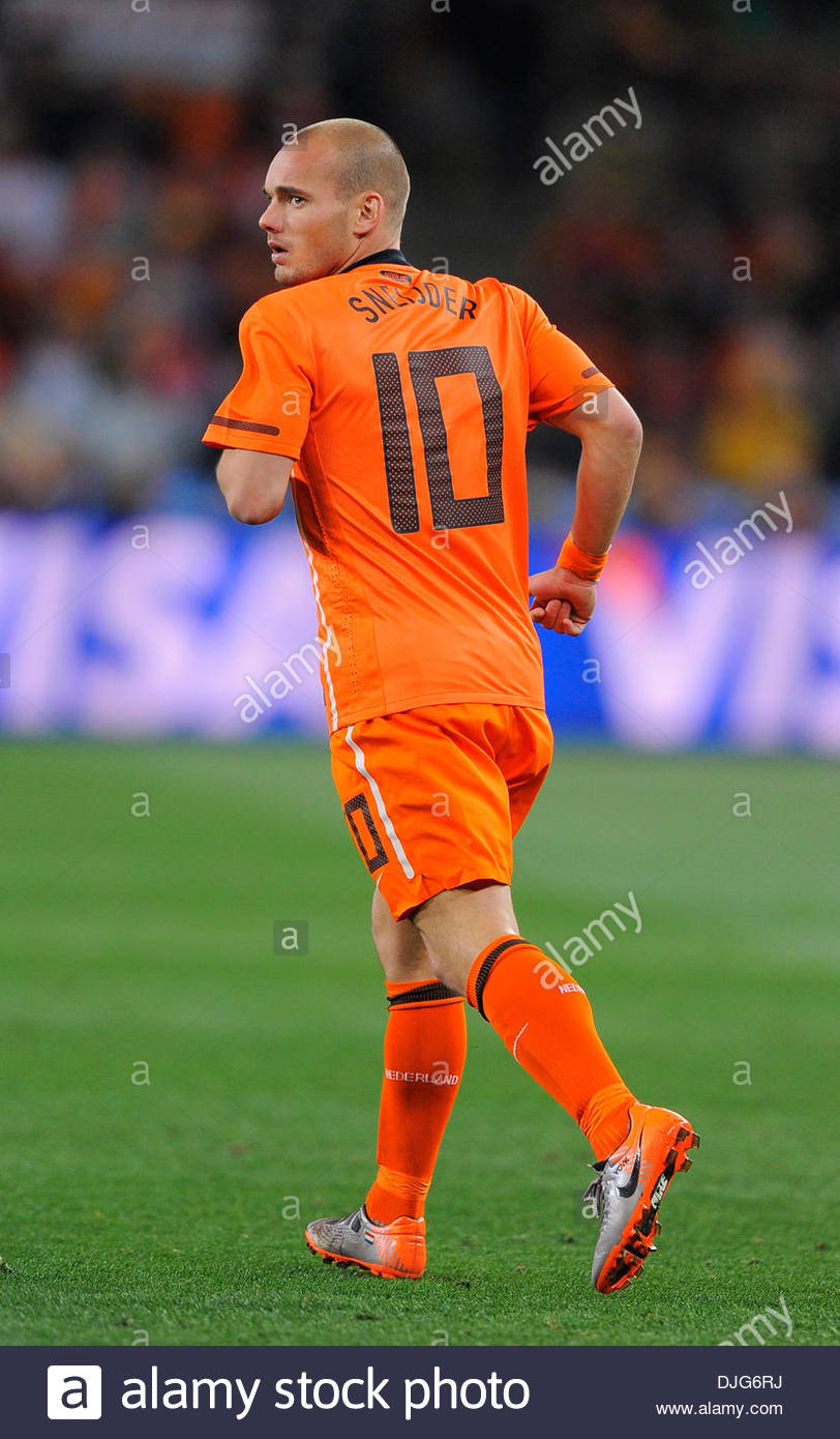 Wesley Sneijder of Netherlands FIFA World Cup 2010 Stock