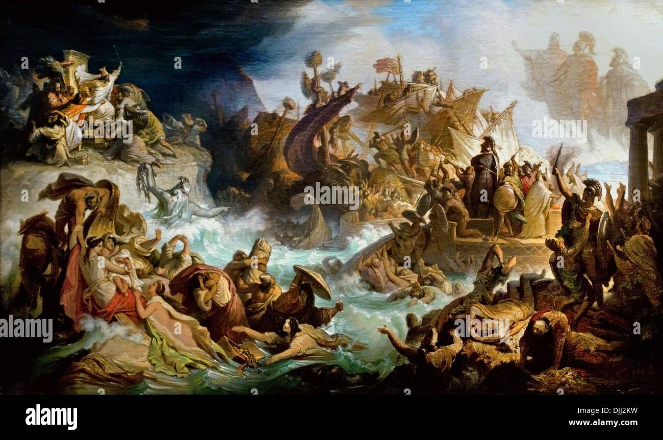 The Battle of Salamis 1858 WILHELM VON KAULBACH (1804-1874 ...