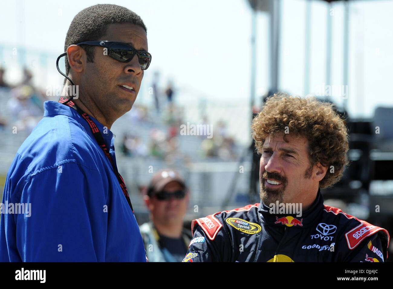 August 7 2010 ESPN announcer BRAD DAUGHERTY talks with Red Bull