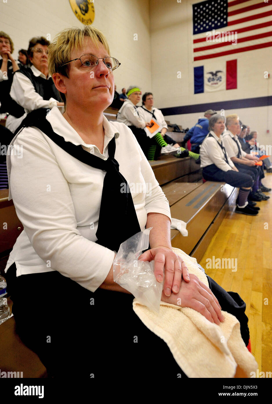 granny 65  Mar 29, 2008 - Alburnett, Iowa, USA - CAROL DRAKE, of the Indianola Route 65  Motorcycle Grannies, ices her wrist after being injured during a Granny ...