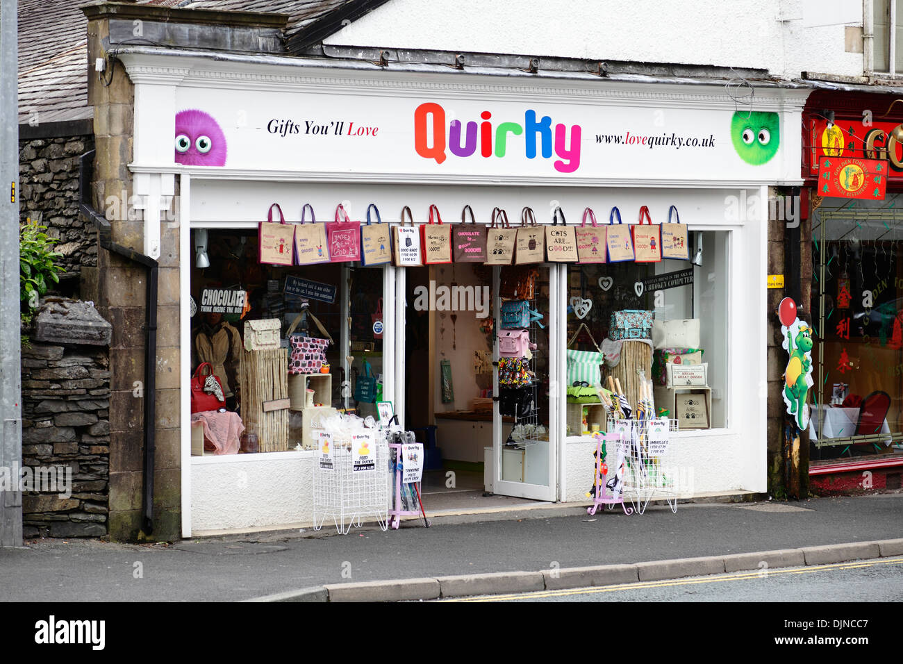 The Quirky Gift Shop on Lake Road in Bowness-On-Windermere, the Lake  District, Cumbria, England, UK