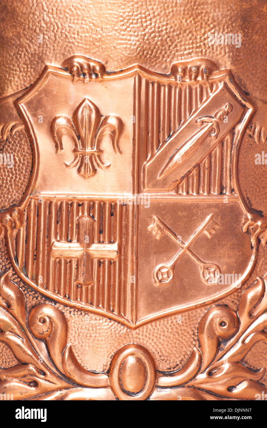 Copper coat of arms background Stock Photo, Royalty Free Image ...