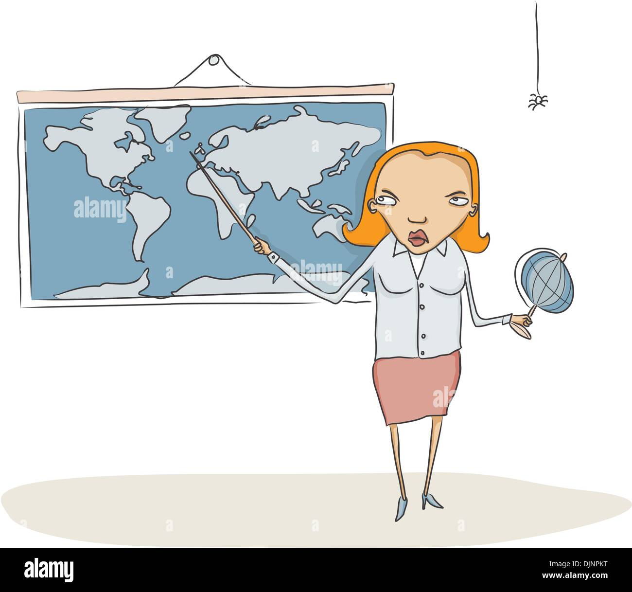Mature Geography Teacher Holding A Globe Stock Image - Image of ...