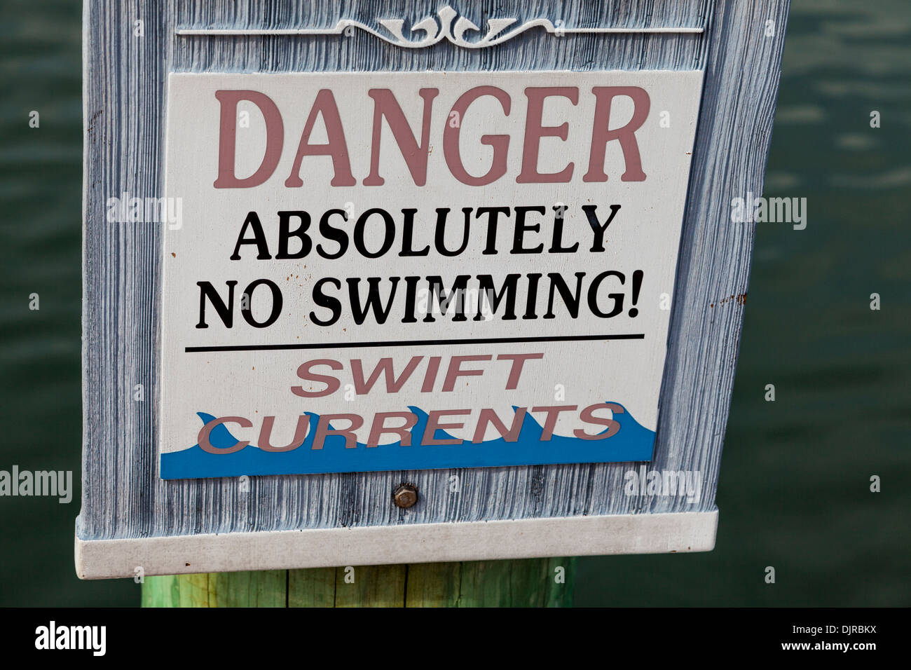 danger no swimming sign stock photo royalty free image
