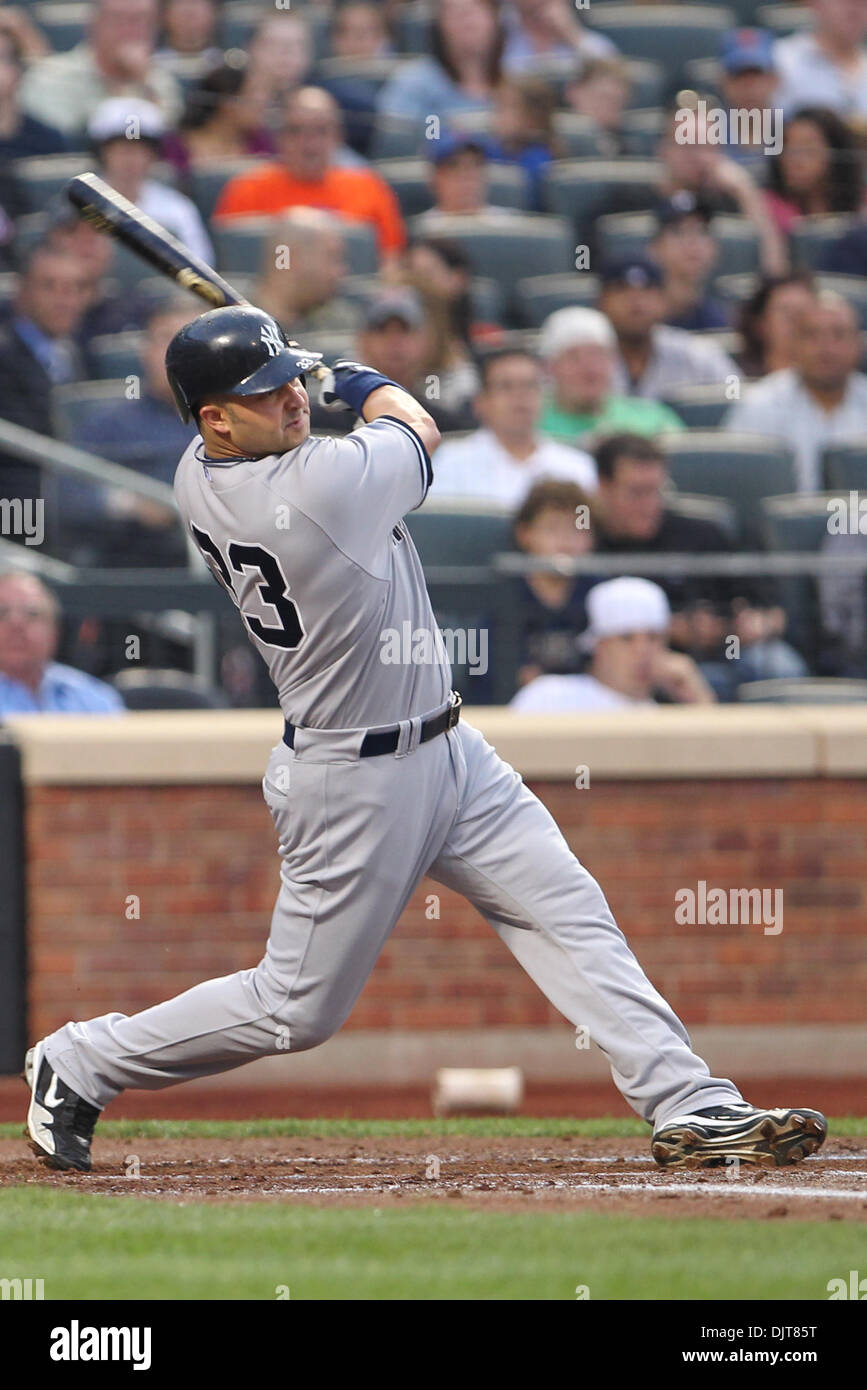 New york yankees outfielder nick swisher 33 gets a hit the new york yankees outfielder nick swisher 33 gets a hit the yankees defeated the mets 2 1in the game played at citi fied in flushing new york kristyandbryce Gallery