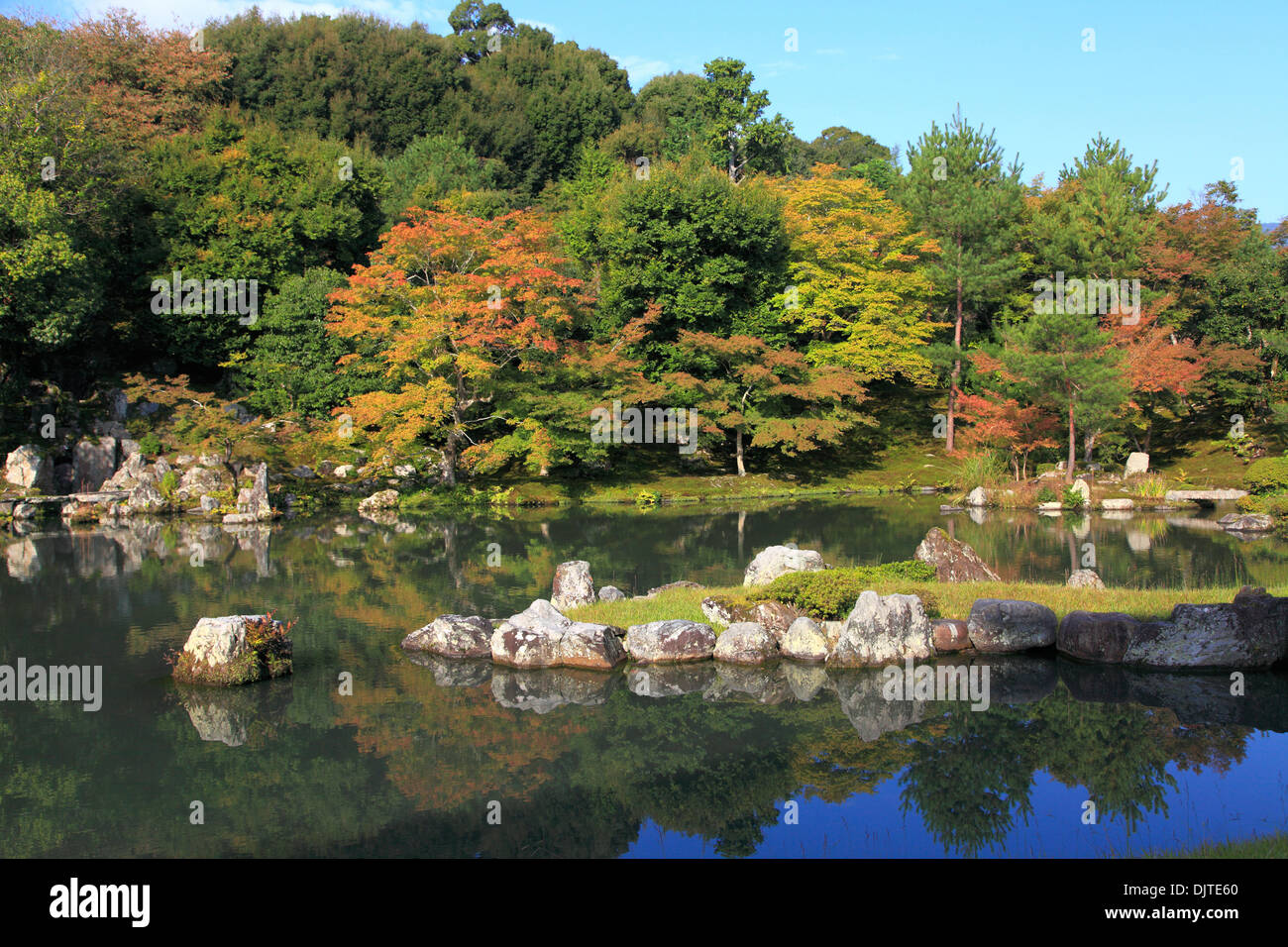 Japan kyoto arashiyama tenryuji temple garden pond for Your pond japan