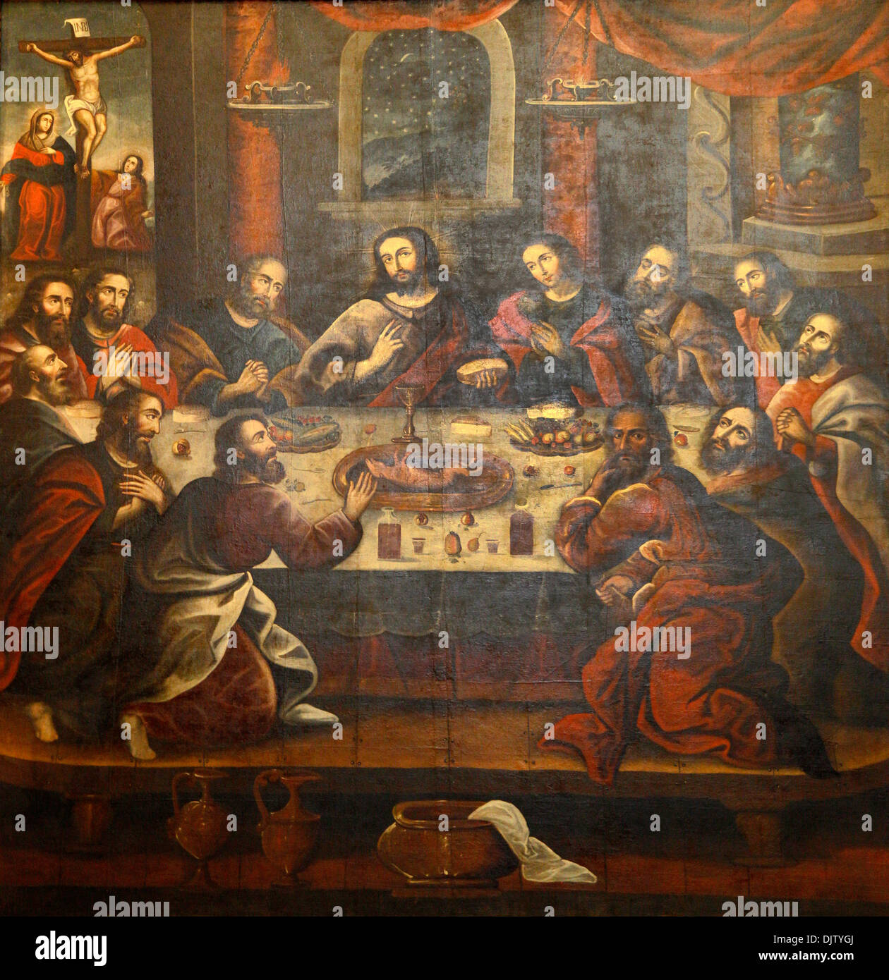 the last supper painting by marcos zapata in the cathedral