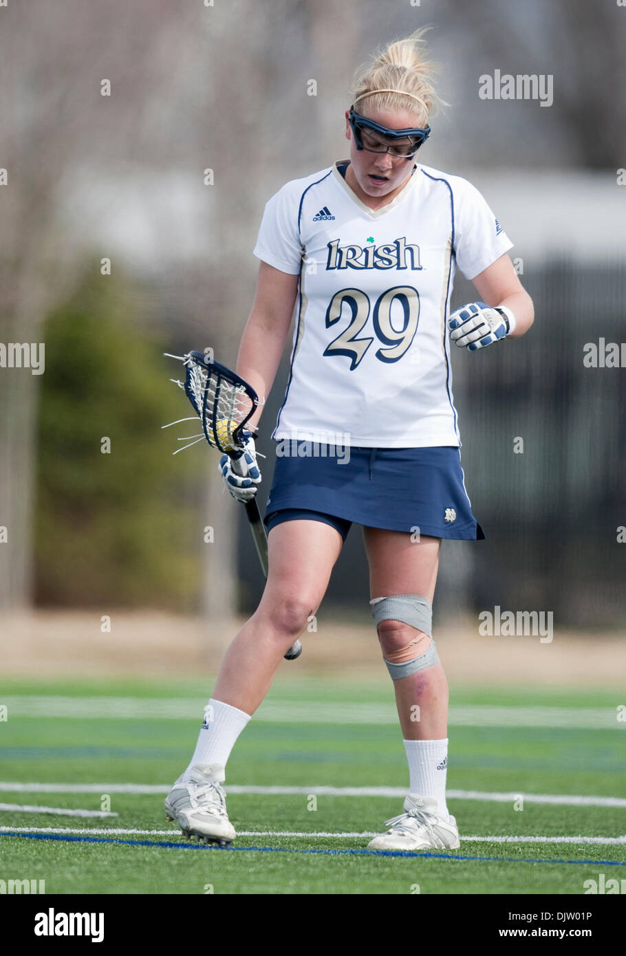 notre dame midfielder shaylyn blaney in game action between notre dame midfielder shaylyn blaney 29 in game action between the notre dame fighting irish and the louisville cardinals at arlotta stadium in south bend