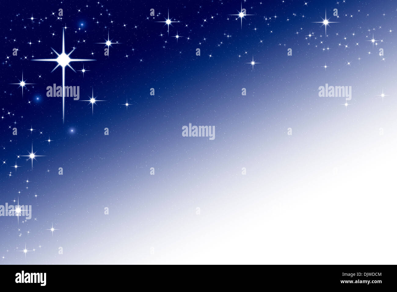 Christmas Night Sky Background Frame with Stars Blue White ...
