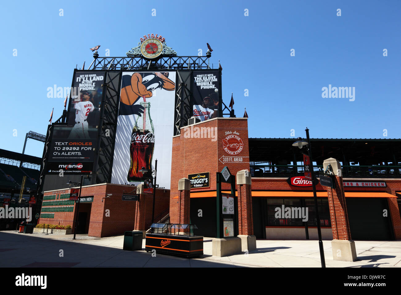 Oriole Park Home Of Baltimore Orioles Baseball Team Camden Yards Sports Complex Maryland USA