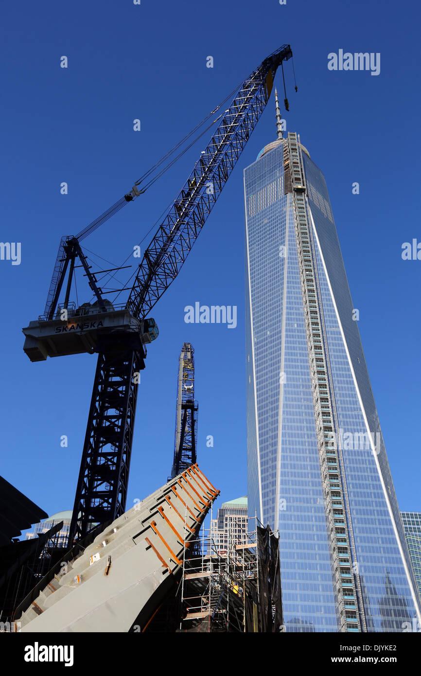 World Trade Center Construction : One world trade center wtc building construction