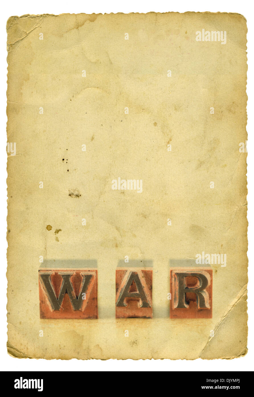Background image word - Stock Photo Word War Spelled Out In Letterpress Letters On Old Paper Background