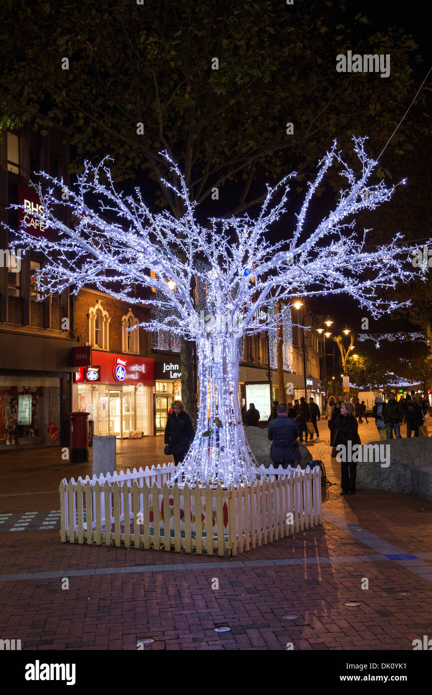 Christmas street decorations stock photo royalty free