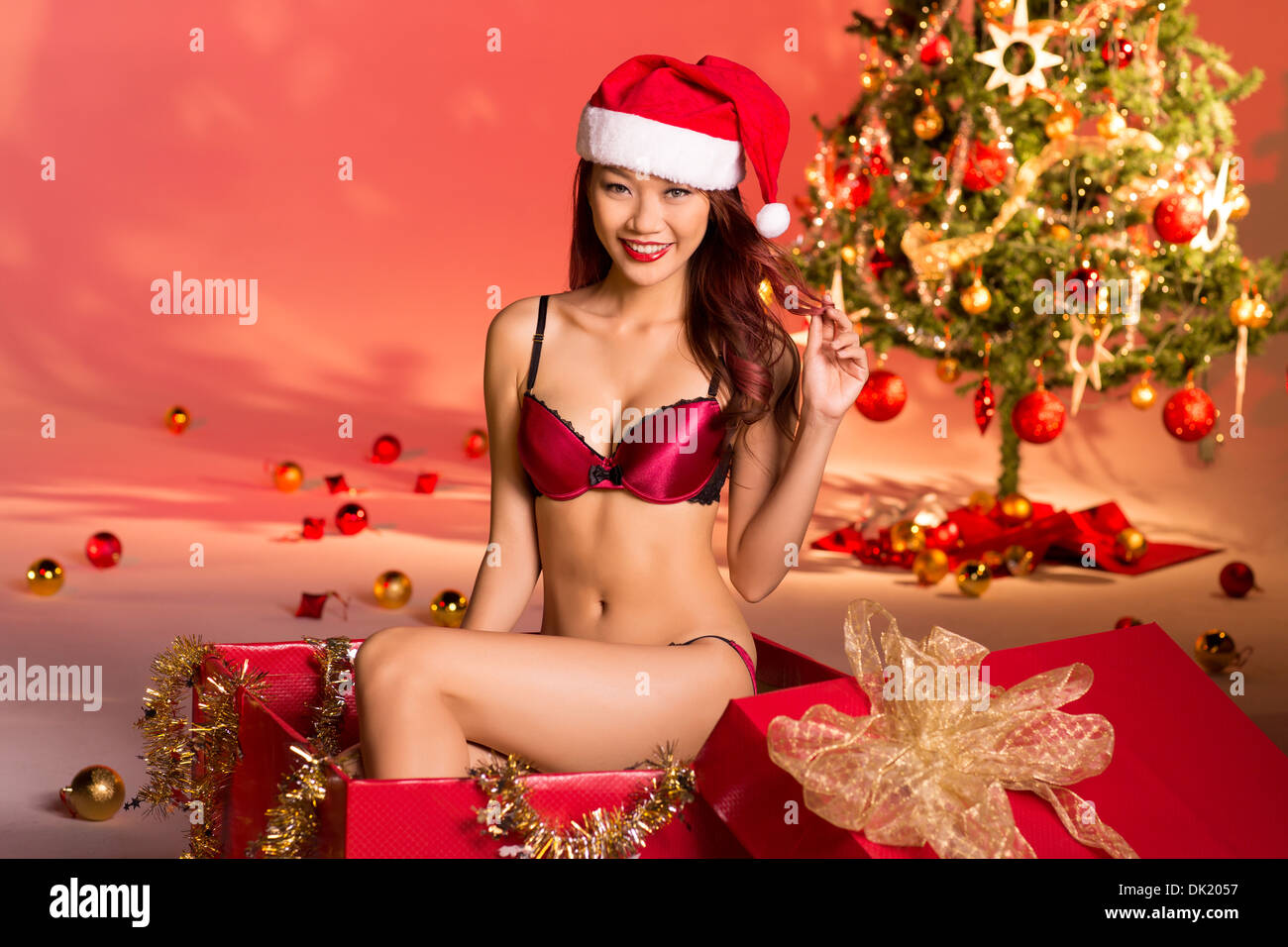 hot naked girls in holiday clothes