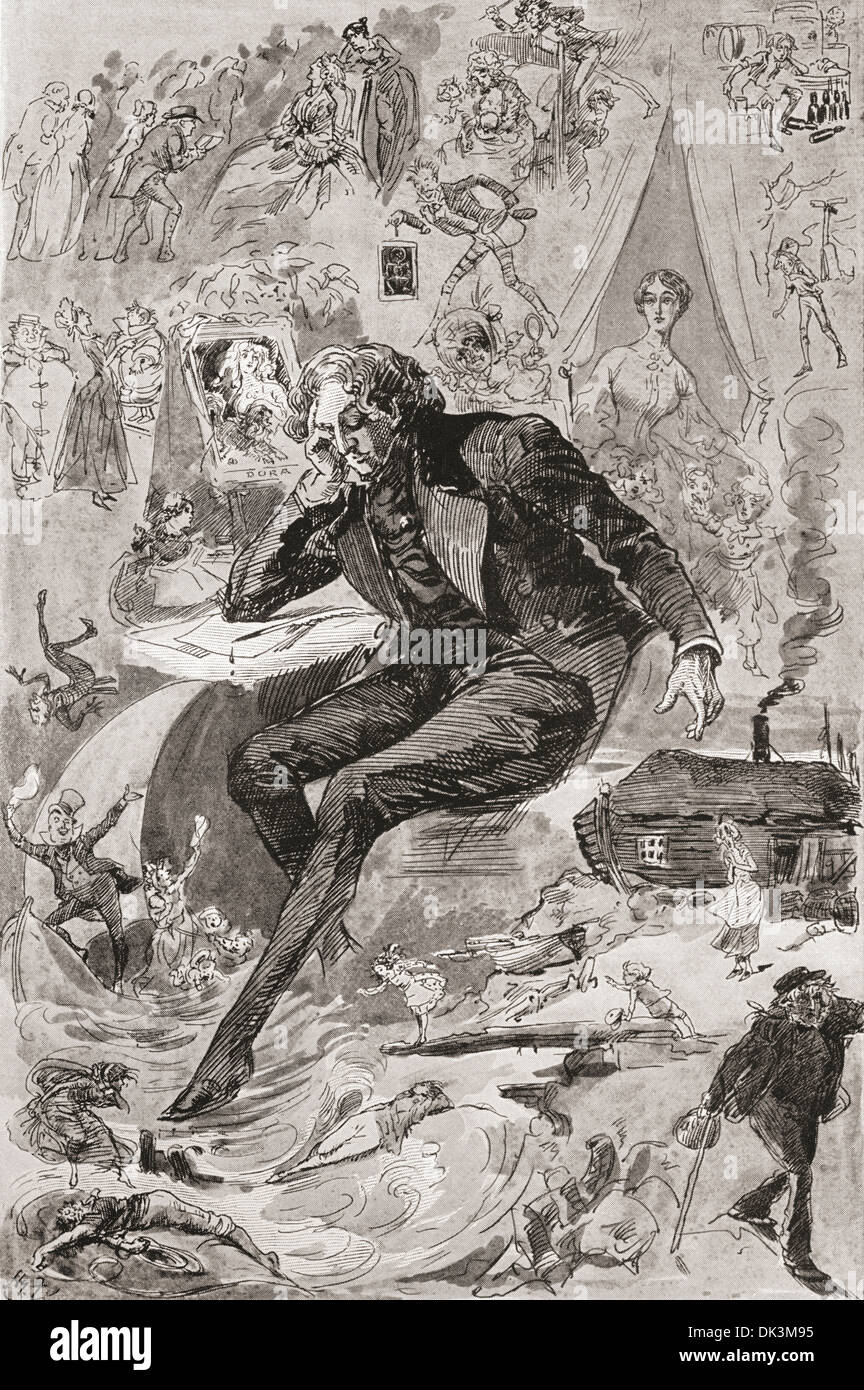 david copperfield by charles dickens illustration of mr murdstone illustration by harry furniss for the charles dickens novel david copperfield