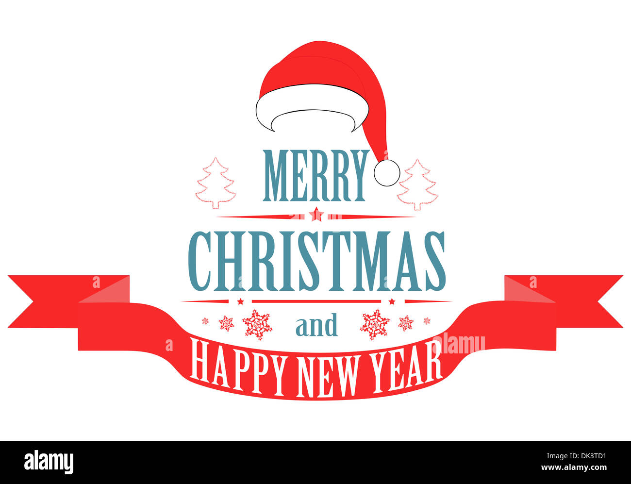 Merry christmas banner vector stock photo royalty free