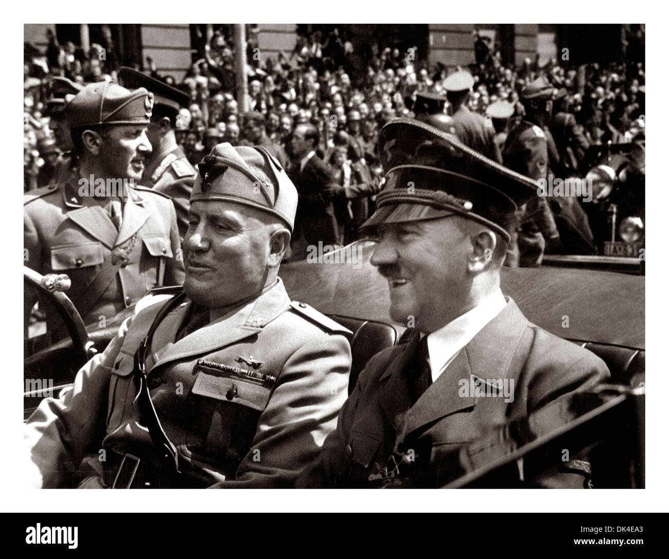 Benito Mussolini And Adolf Hitler In Munich, June 1940 ...