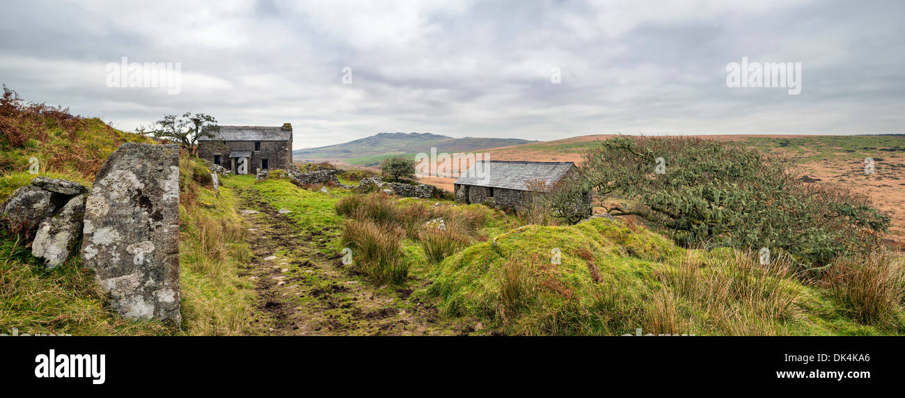 Abandoned Farm House On Garrow Tor A Remote Part Of Bodmin