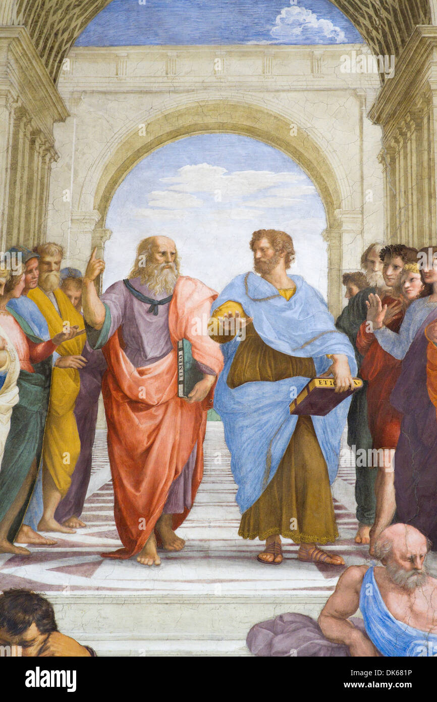 school of athens painted by raphael The wall painting, the school of athens, was commissioned by pope julius ii from raphael in the first part of the 16th century at the height, if you'll forgive the pun, of high renaissance.