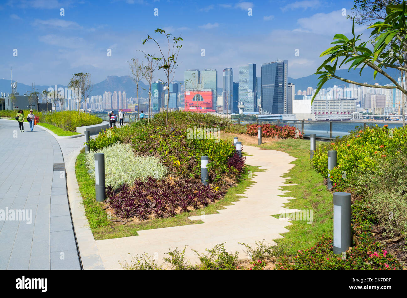 Public Garden And Park On Rooftop Of New Kai Tak Cruise Terminal In Stock Photo Royalty Free