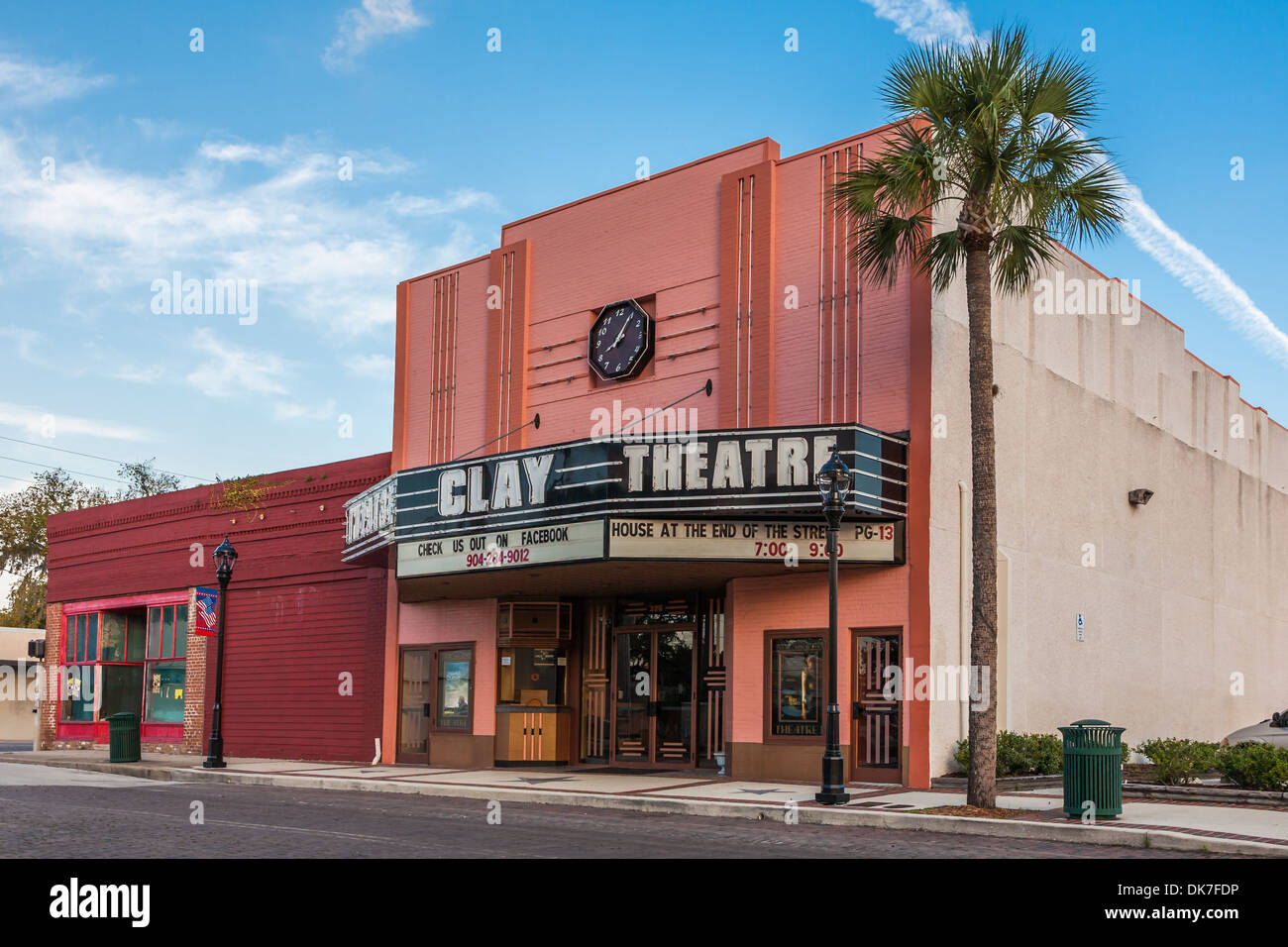 Clay theatre in historic downtown green cove springs florida stock image
