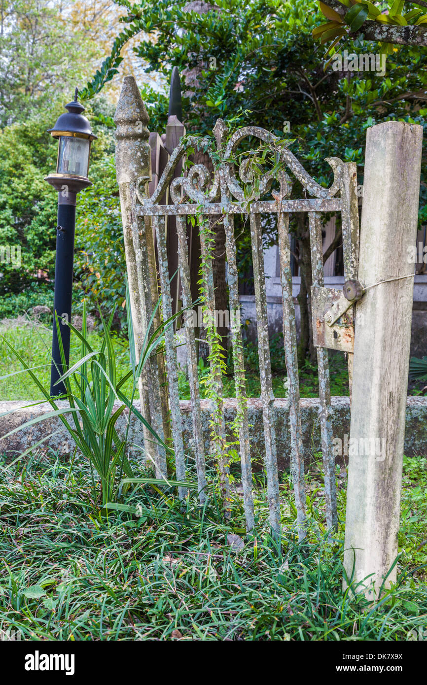 Antique wrought iron gate in green cove springs florida