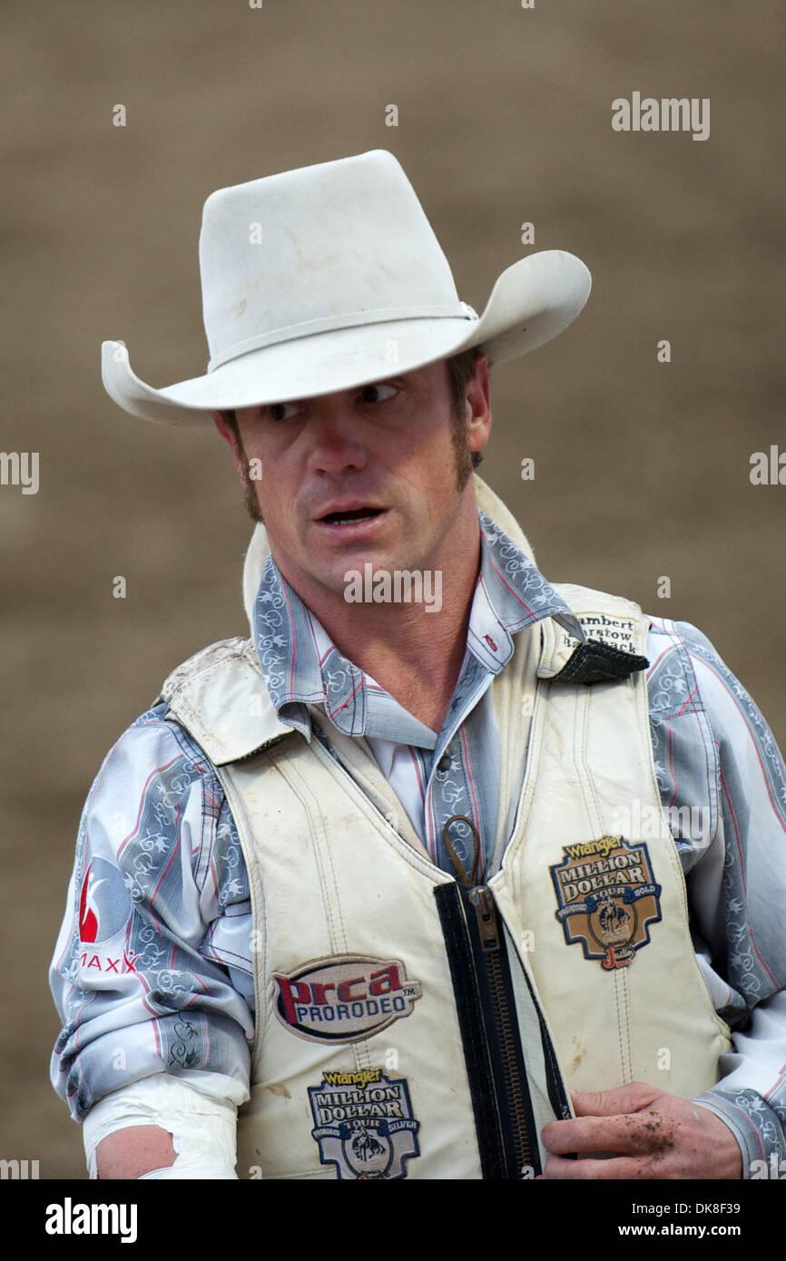 July 21 2011 Salinas California U S Bareback rider Chris