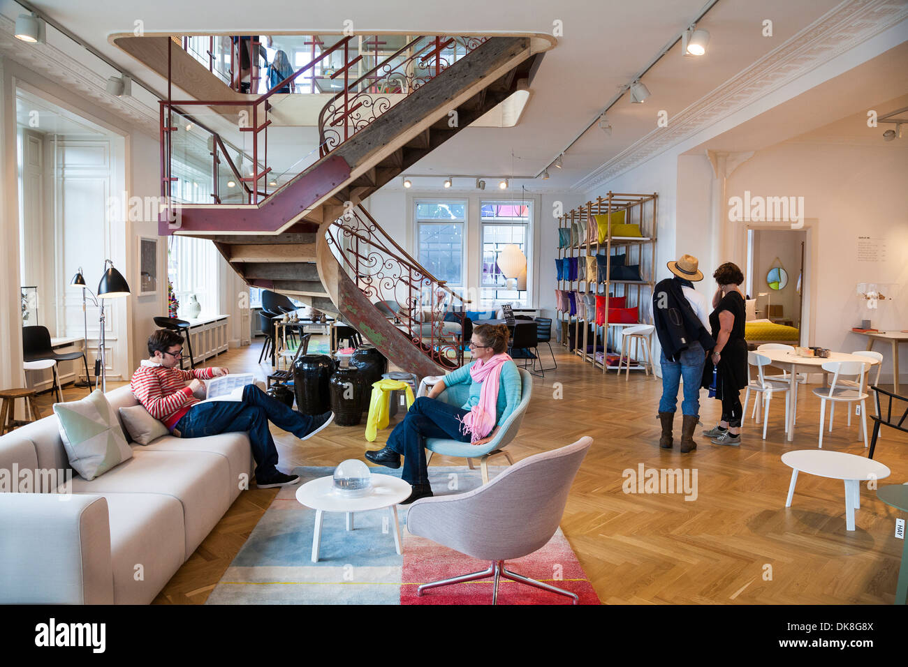 hay house store in copenhagen denmark stock photo royalty free image 63497978 alamy. Black Bedroom Furniture Sets. Home Design Ideas