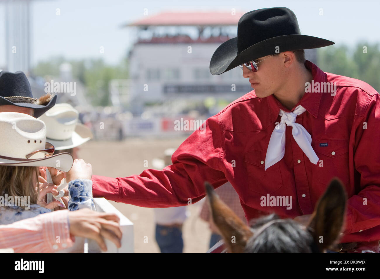 July 31 2011 Cheyenne Wyoming U S Rodeo Pick Up