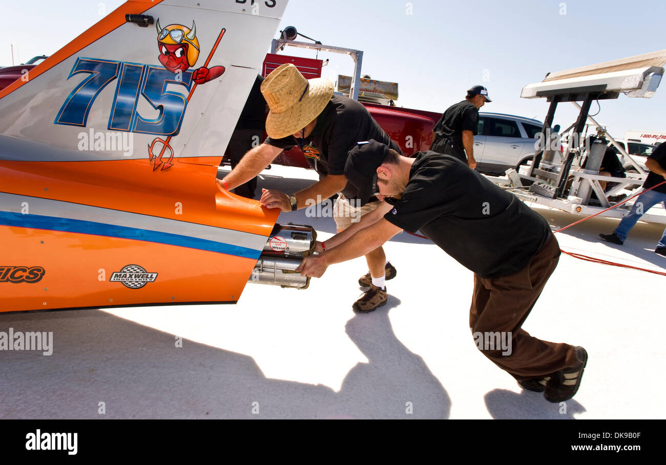 Aug Wendover Utah U S A Race Car Is Pushed To The