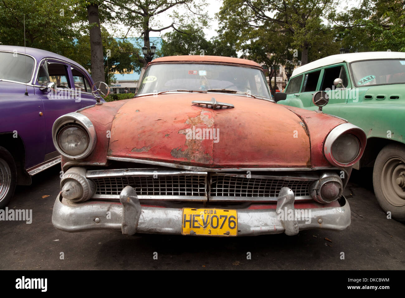 Old american cars from the 1950s still being used as taxis for Old american cars