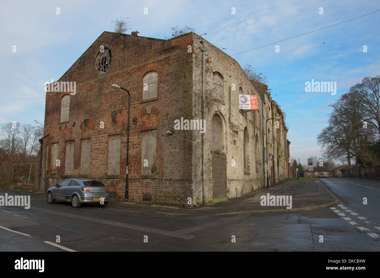 Abandoned Empty Industrial Building For Sale Driffield