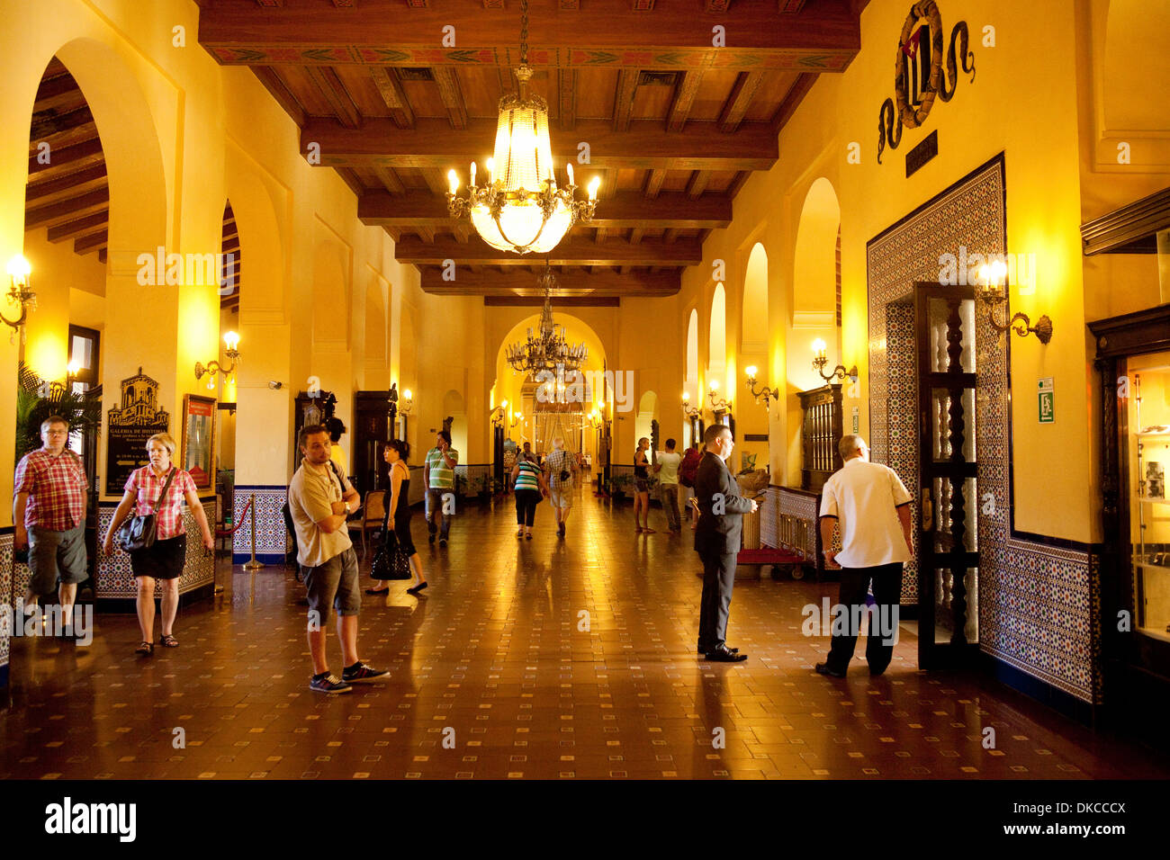 Stock photo the lobby of the hotel nacional luxury hotel in havana cuba caribbean