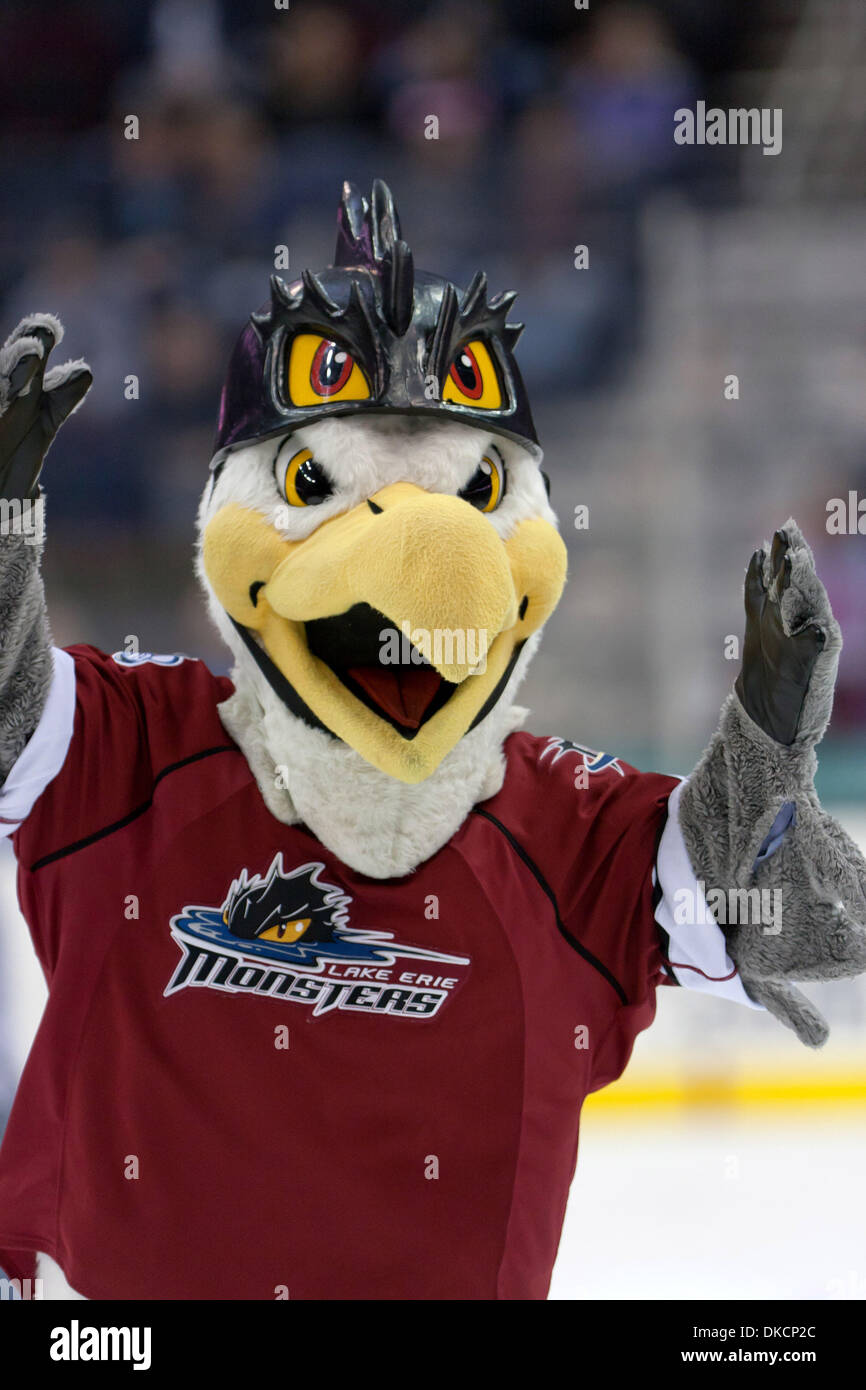 Oct. 14, 2011 - Cleveland, Ohio, U.s - Lake Erie Monsters Mascot ...