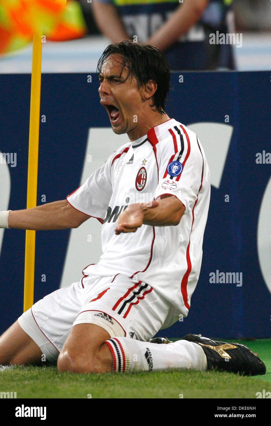 AC Milan s Filippo Inzaghi celebrates his goal Credit Image