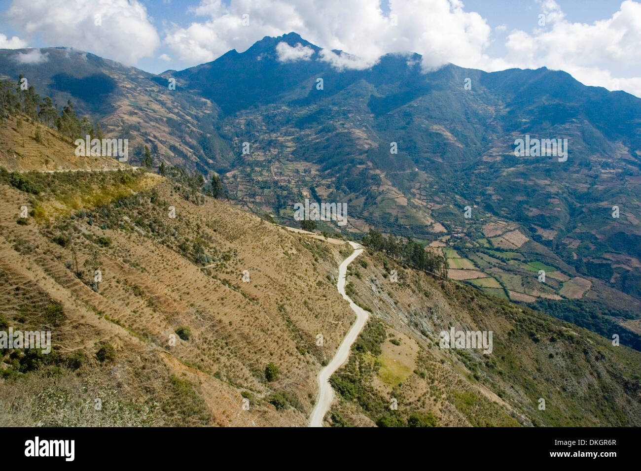 High Narrow Winding Road Through Andes Mountains In Peru With - Where are the andes mountains