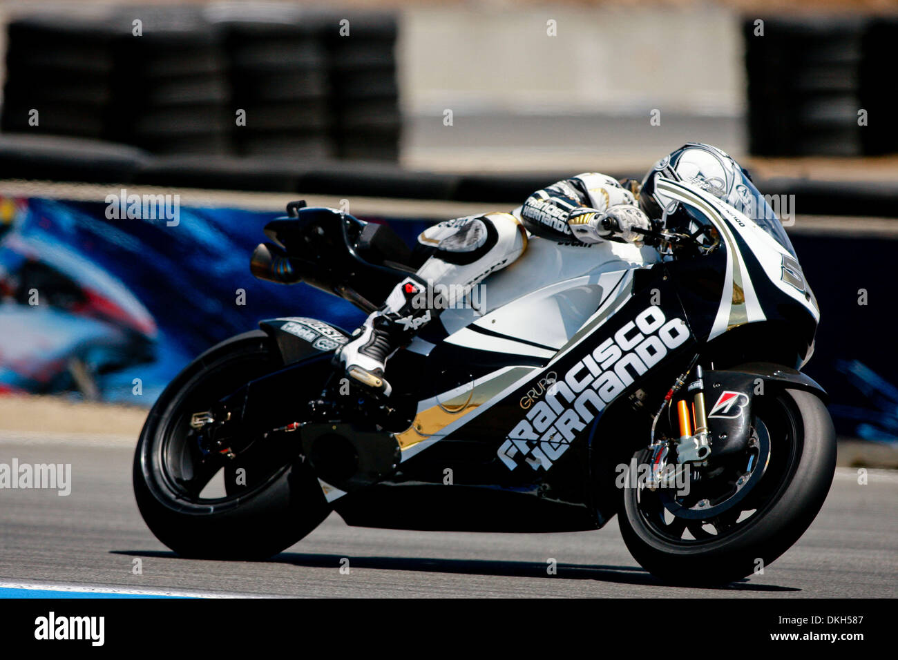 Sete Gibernau, of Spain, rides the #59 Ducati motorcycle for the Stock Photo, Royalty Free Image ...