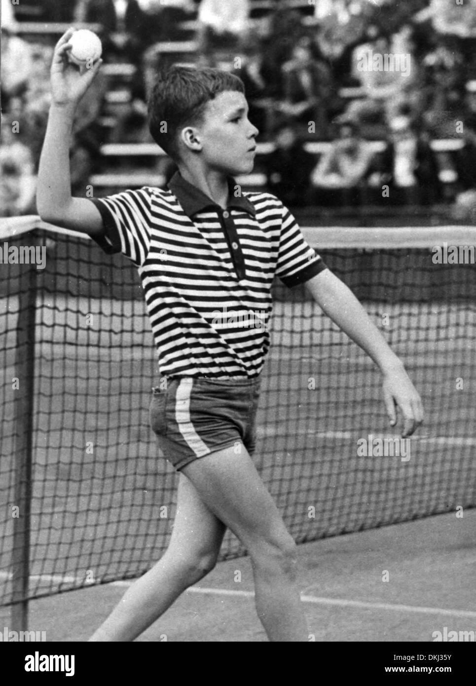 Czech tennis legend Ivan Lendl as 9 year old Ball Boy at a