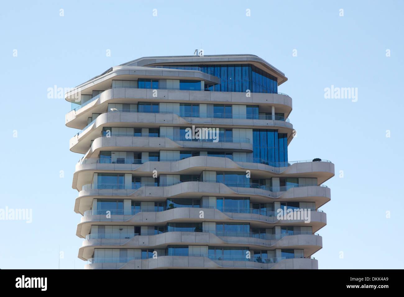 Penthouse of the landmark Marco-Polo-Tower luxury condominium in ...