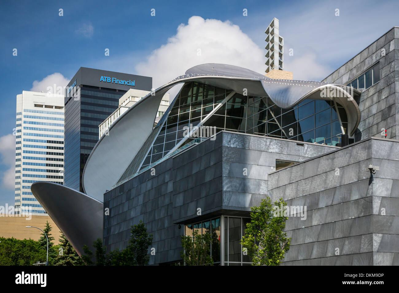 Exterior Design Art architectural design of the art gallery building exterior in stock