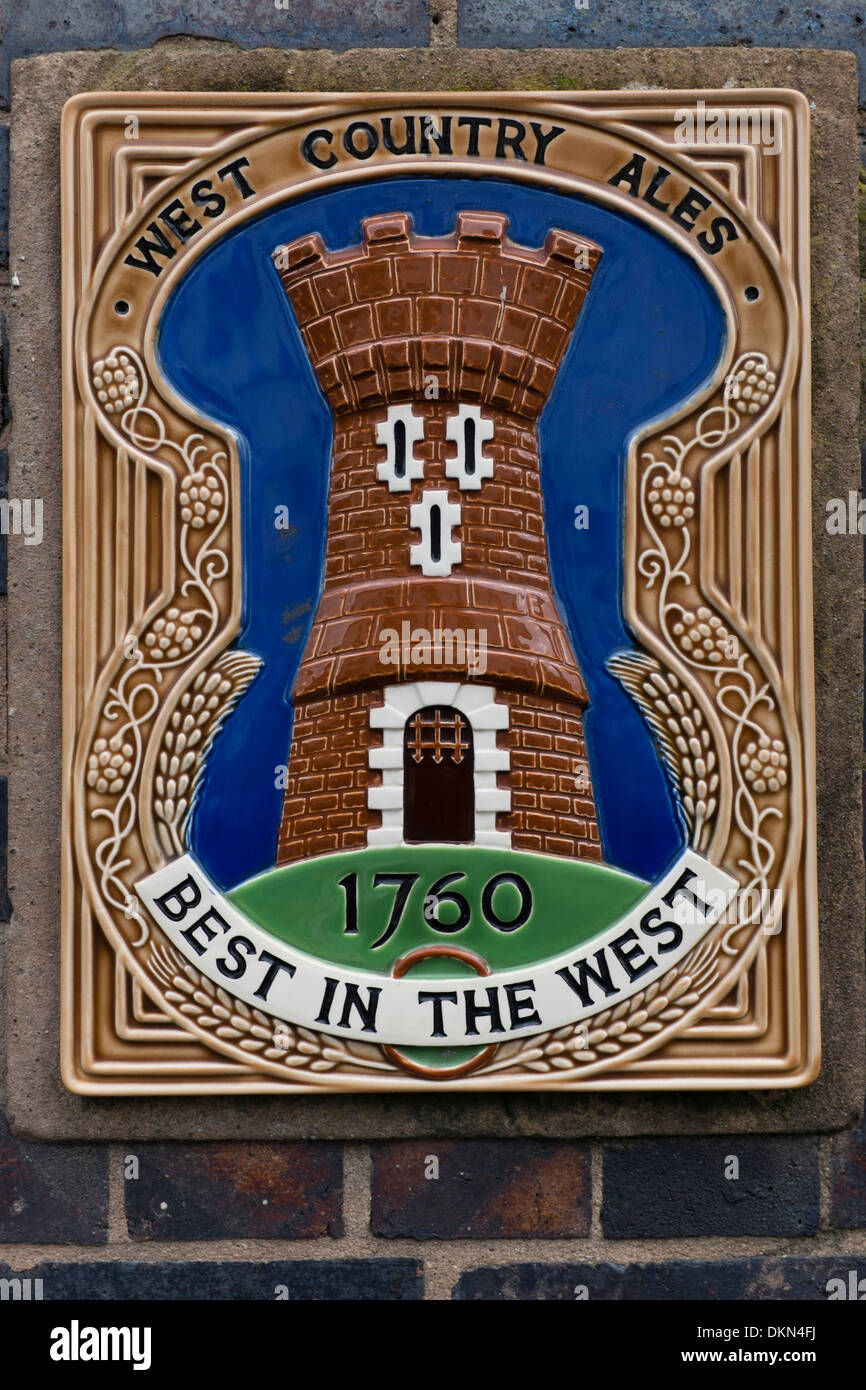 A Ceramic Sign Plaque For WEST COUNTRY ALES (1760 Best In