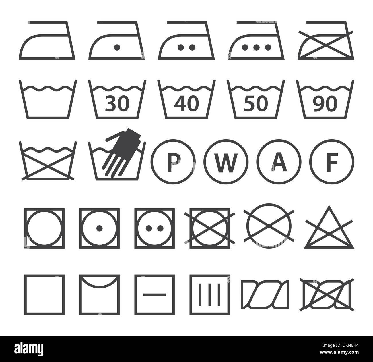 Set of washing symbols laundry icons isolated on white set of washing symbols laundry icons isolated on white background biocorpaavc Images