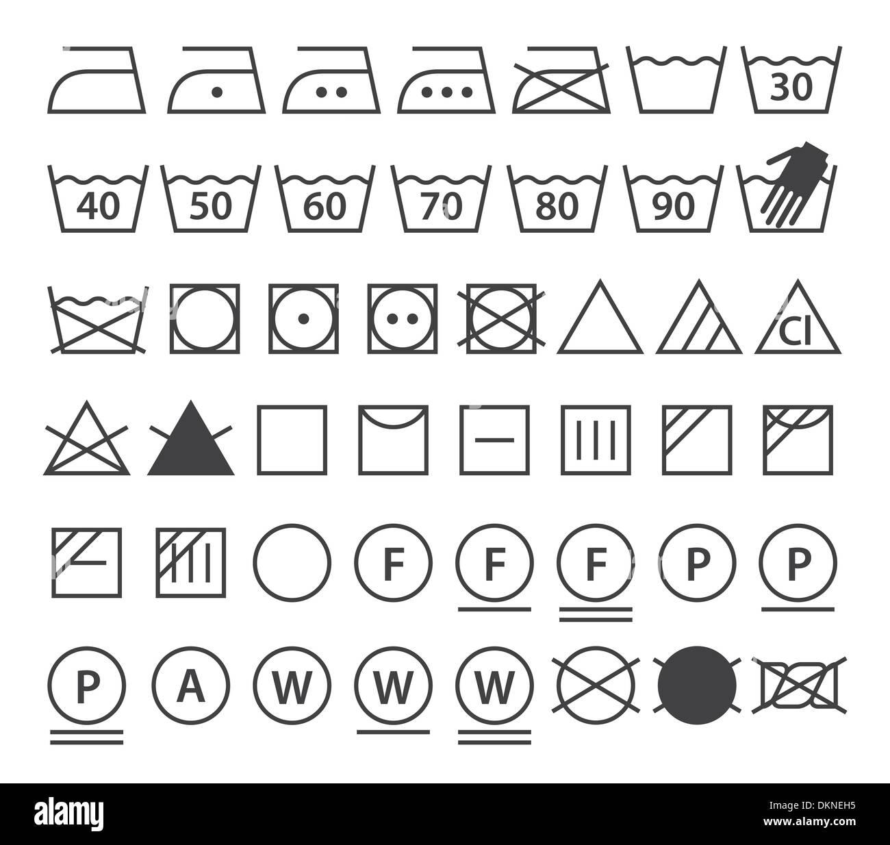Set of washing symbols laundry icons isolated on white set of washing symbols laundry icons isolated on white background buycottarizona