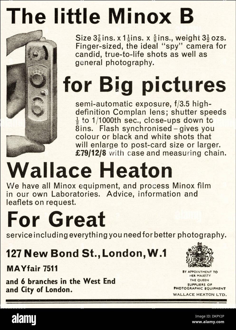 1960s vintage magazine advertisement advertising MINOX B miniature ...