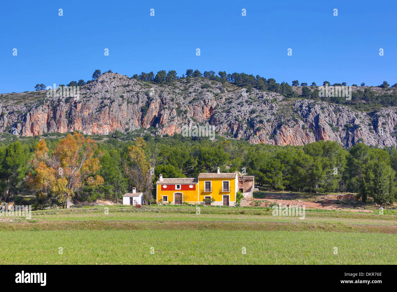 Spain europe murcia province country side colourful country side house landscape mountain peaceful rock simple skyline