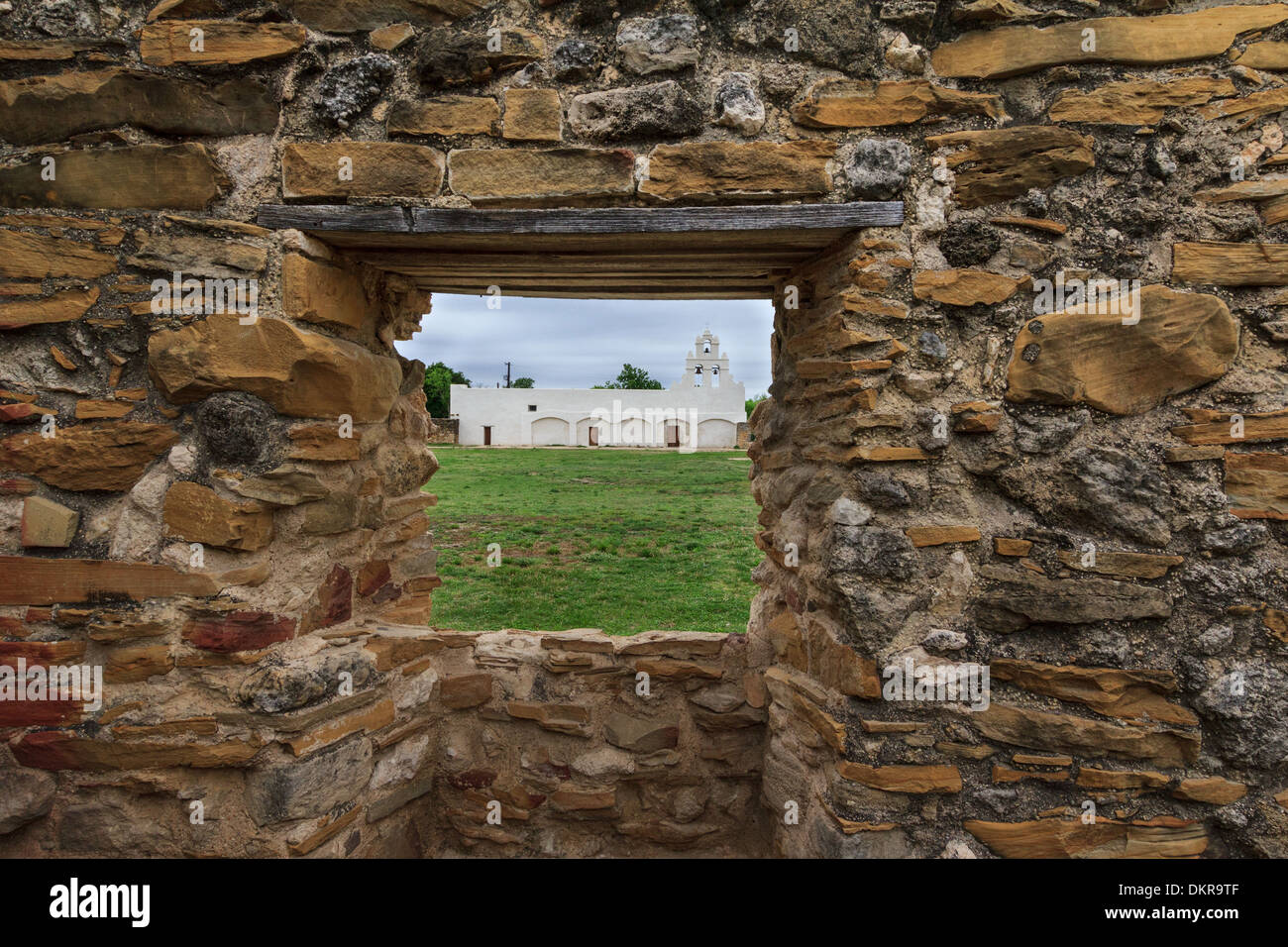 San antonio san juan capistrano mission stone wall texas usa