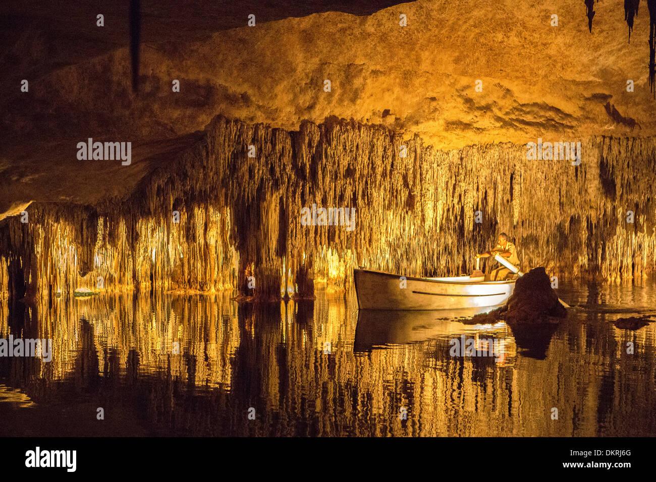 Caves, Drach, Mallorca, Balearics, Porto Cristo, attraction, cave Stock Photo...