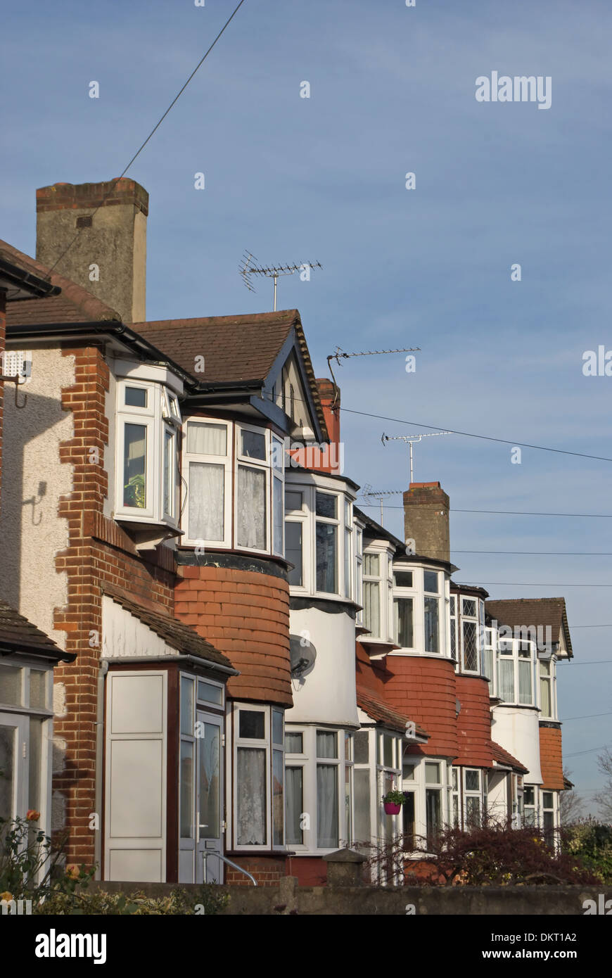 Houses With Bay Windows row of 1930s terraced houses with bay windows in twickenham stock