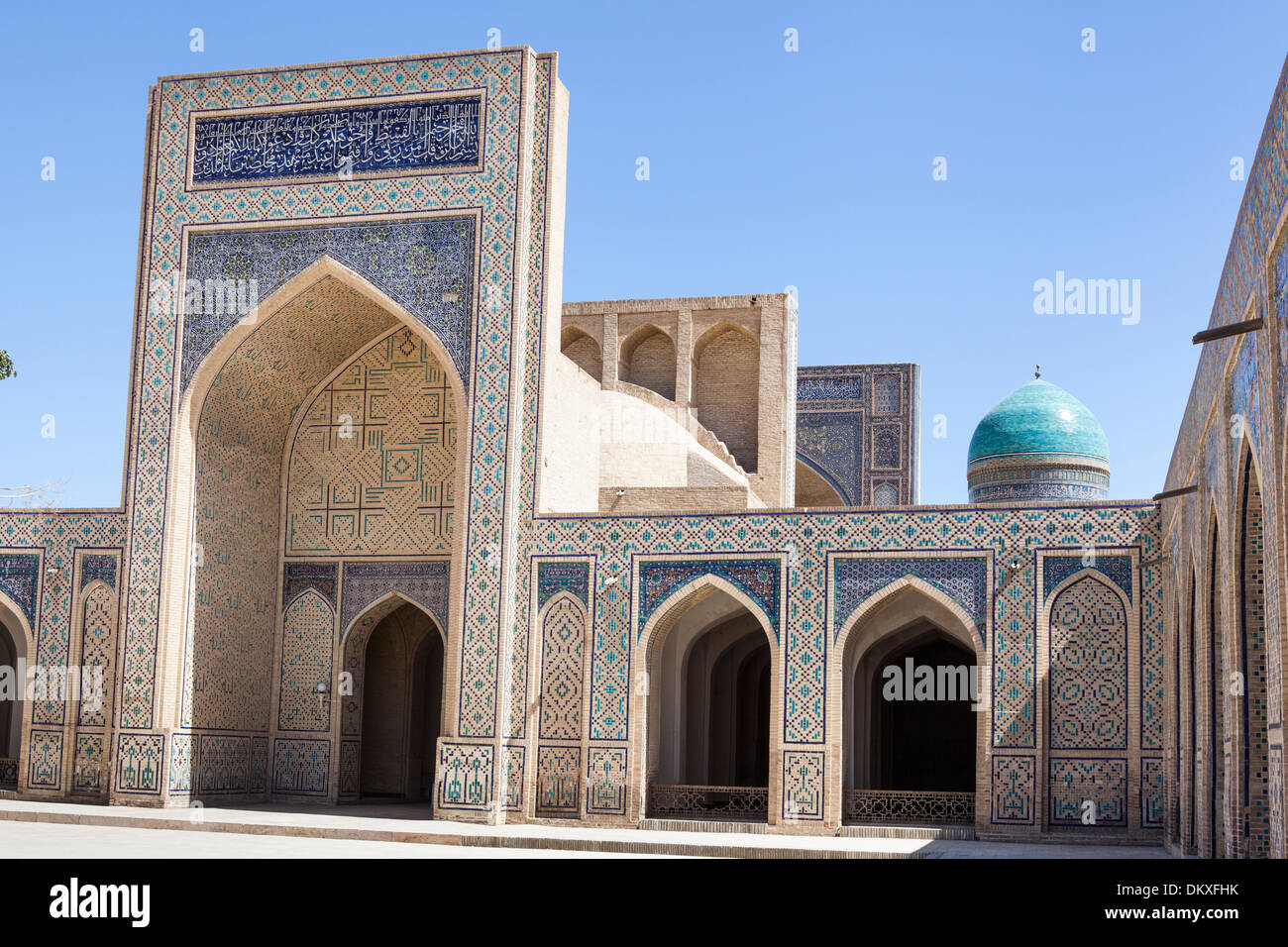 islamic architecture in courtyard kalon mosque kalyan mosque stock photo royalty free image. Black Bedroom Furniture Sets. Home Design Ideas